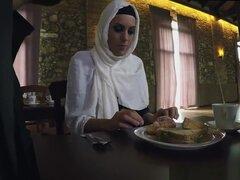 tía árabe follar y estudiante musulmán y árabe bbw sexo y árabe hijab público,