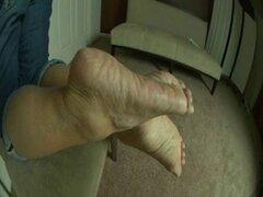 Maduritas arrugas y plantas de los pies. Soles y Maduritas arrugas