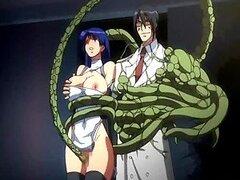 Tetona hentai capturados y perforados por los tentáculos anime furry