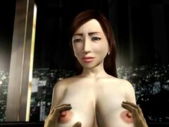 3D hentai MILF obtiene grandes tetas torturadas