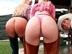 Dos chicas con el culo caliente y tetas grandes